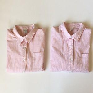 Bundle of 2 Pink Stripe Button Down Shirts